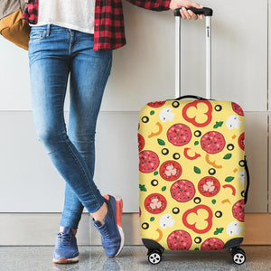 Pizza Tomato Salami Texture Pattern Luggage Covers