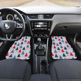 Christmas Tree Star Pattern Front Car Mats