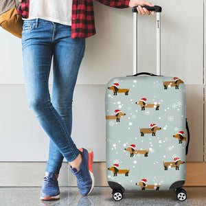 Dachshund Chirstmas Pattern Luggage Covers
