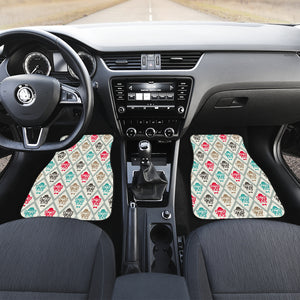 French Bulldog Tuxedo Pattern Front Car Mats