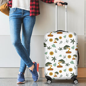 Bonsai Leaves Flower Pattern Luggage Covers
