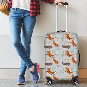 Swimming Fish Otter Pattern Luggage Covers