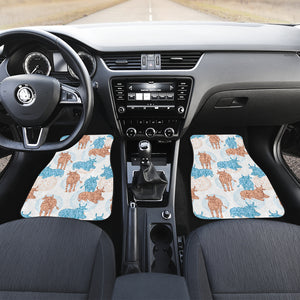 Cow Tribal Pattern Front Car Mats