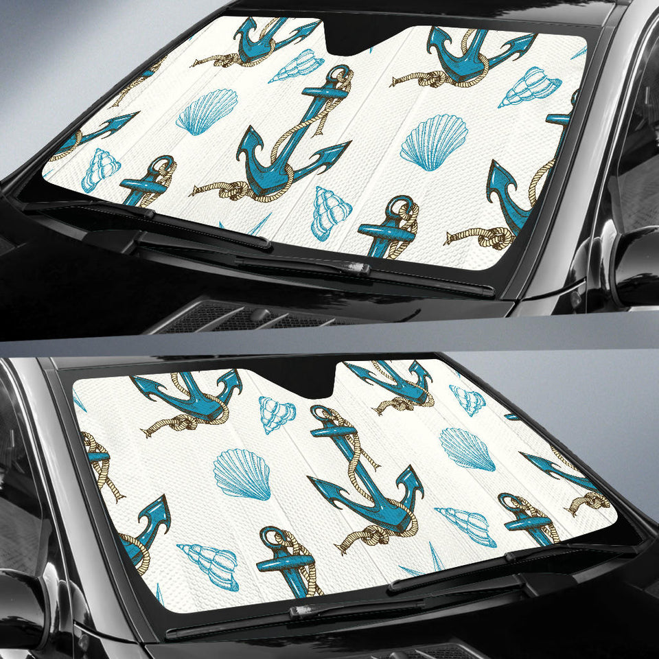 Anchor Shell Starfish Pattern Car Sun Shade