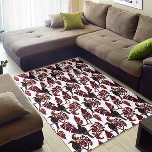 Crow Tree Leaves Pattern Area Rug