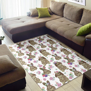Rabbit Pattern Area Rug