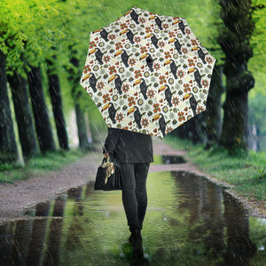 Toucan Flower Pattern Umbrella