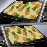 Pineapple Pattern Pokka Dot Background Car Sun Shade
