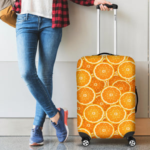 Sliced Orange Pattern Luggage Covers