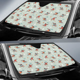 Dachshund Skating Pattern Car Sun Shade