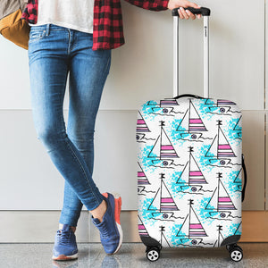 Sailboat Pattern Luggage Covers