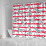 Unicorn Silver Pattern Shower Curtain Fulfilled In US