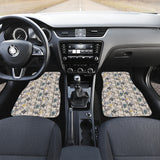 Owl Pattern Background Front Car Mats