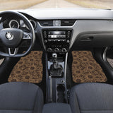 Sun Pattern Theme Front Car Mats