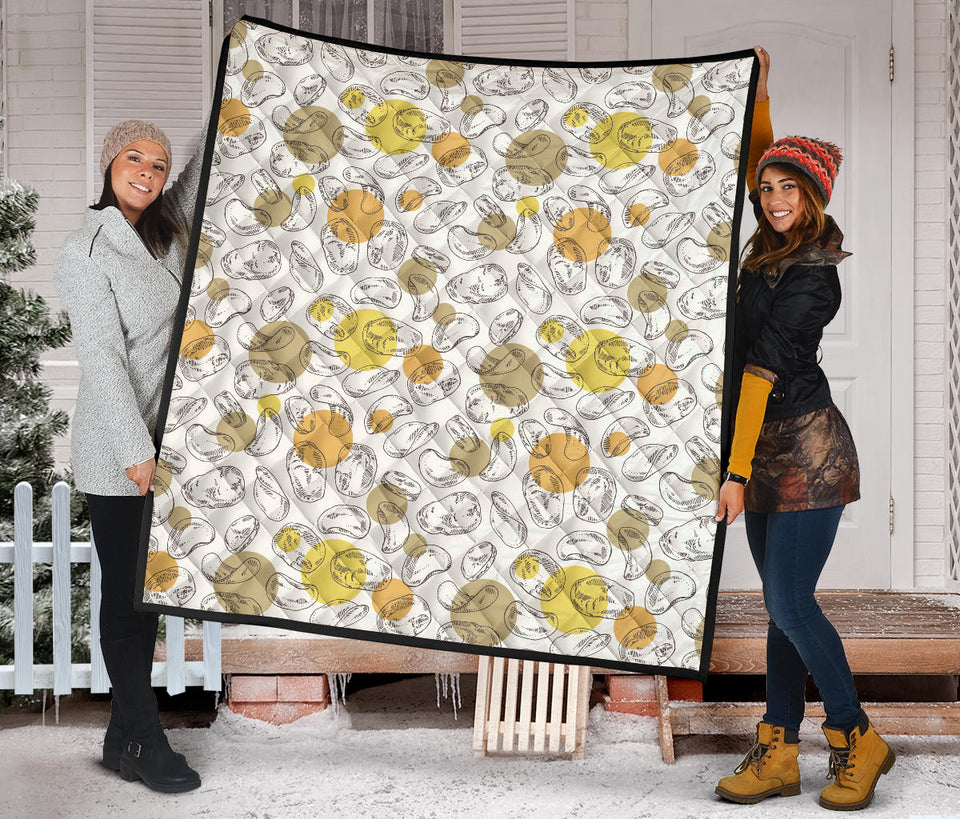 Potato Chips Pattern Print Design 02 Premium Quilt