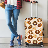 Chocolate Donut Pattern Luggage Covers