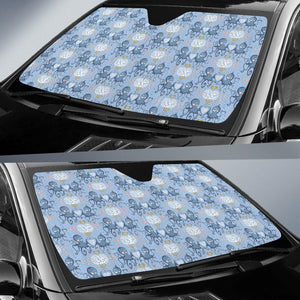 Octopus Heart Pattern Car Sun Shade