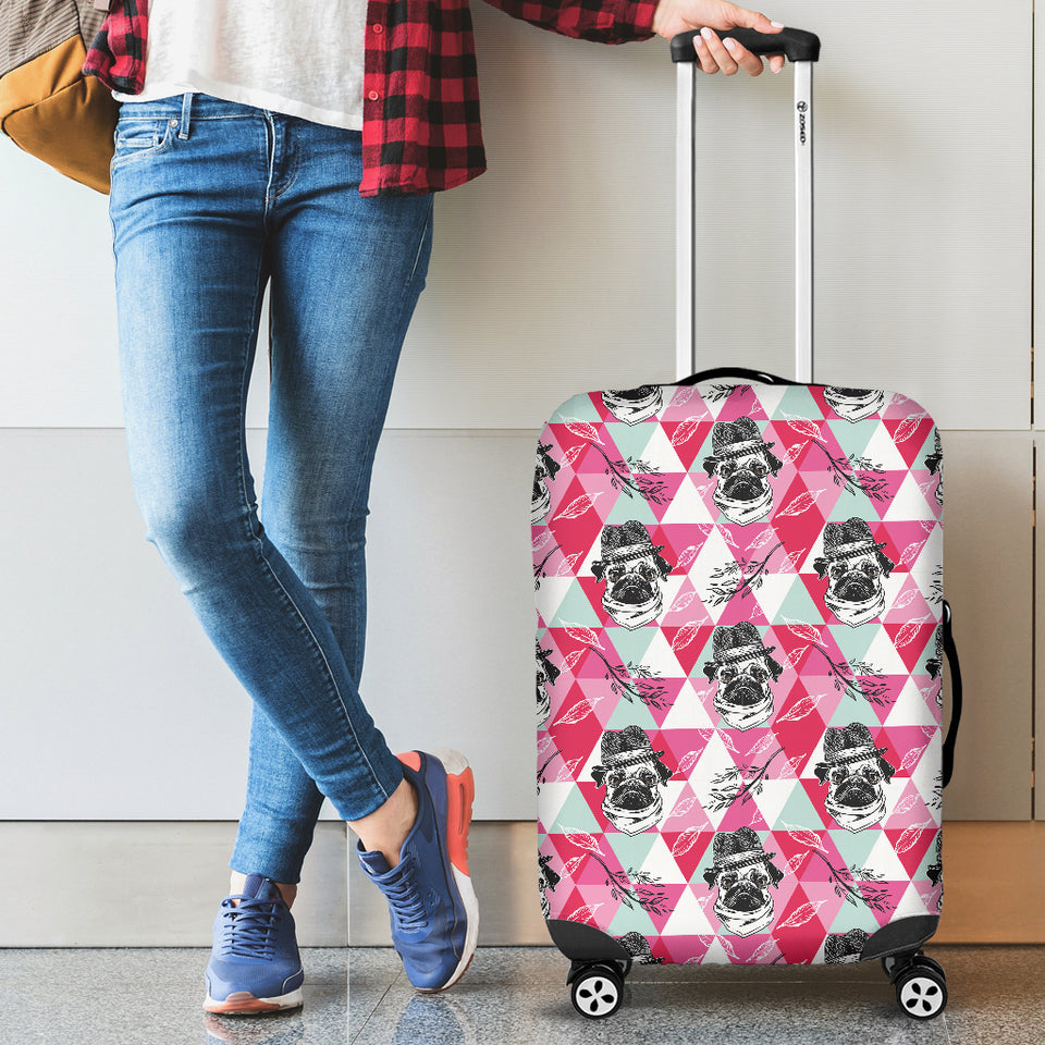 Pug Pattern Luggage Covers