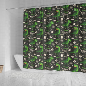 Dinosaur Pattern Shower Curtain Fulfilled In US