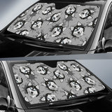 Siberian Husky Pattern Theme Car Sun Shade