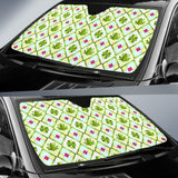 Frog Clover leaves Pattern Car Sun Shade