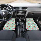 Mushroom Pattern Background Front Car Mats