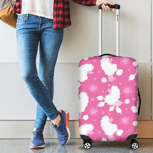 Poodle Pink Theme Pattern Luggage Covers