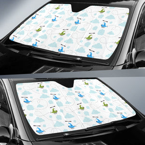 Helicopter Pattern Car Sun Shade