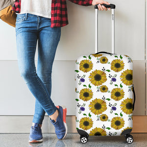 Sunflower Pattern Background Luggage Covers
