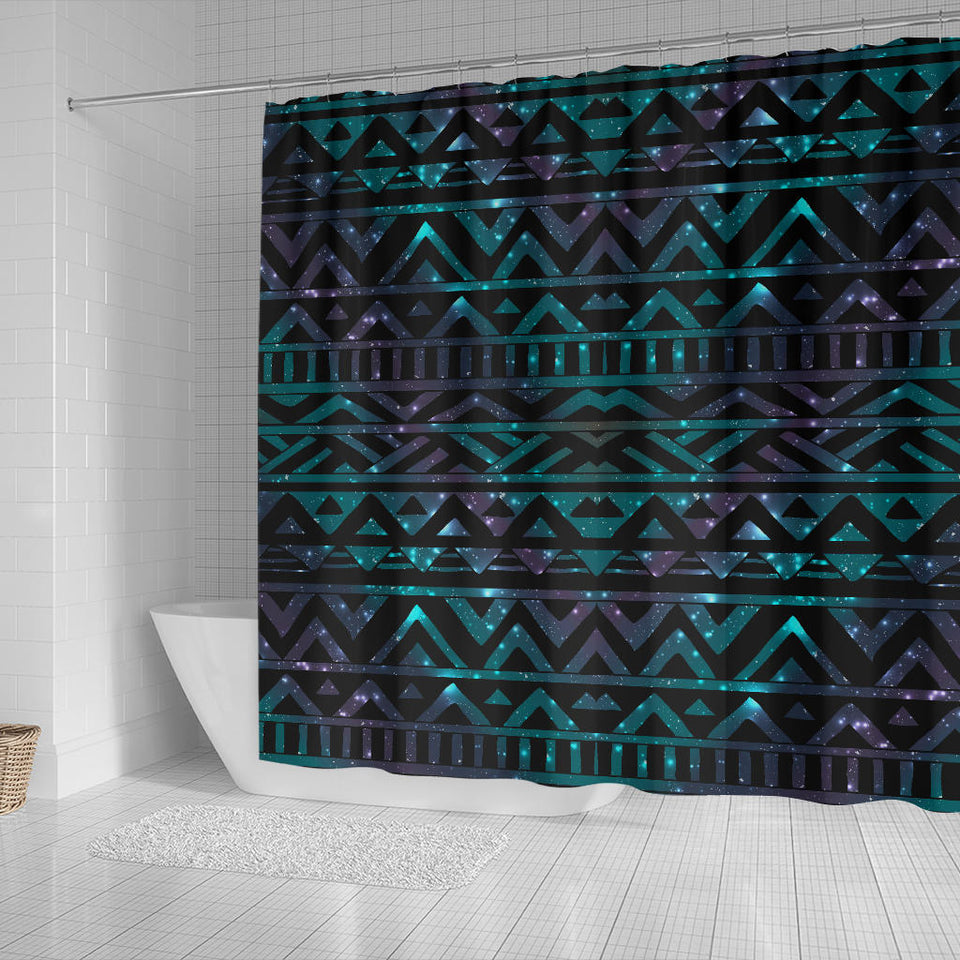 Space Tribal Galaxy Pattern Shower Curtain Fulfilled In US