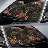 Flamingo Pattern Background Car Sun Shade