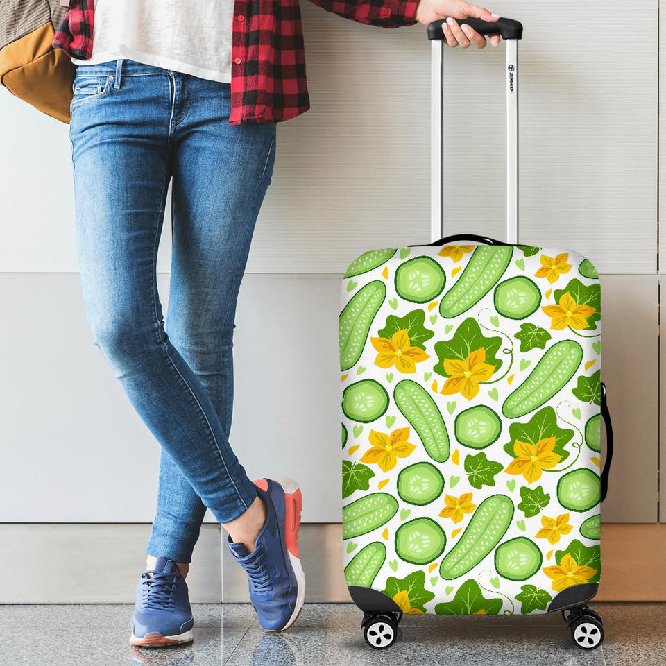 Cucumber Pattern Luggage Covers