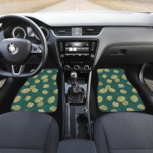 Hop Pattern Background Front Car Mats