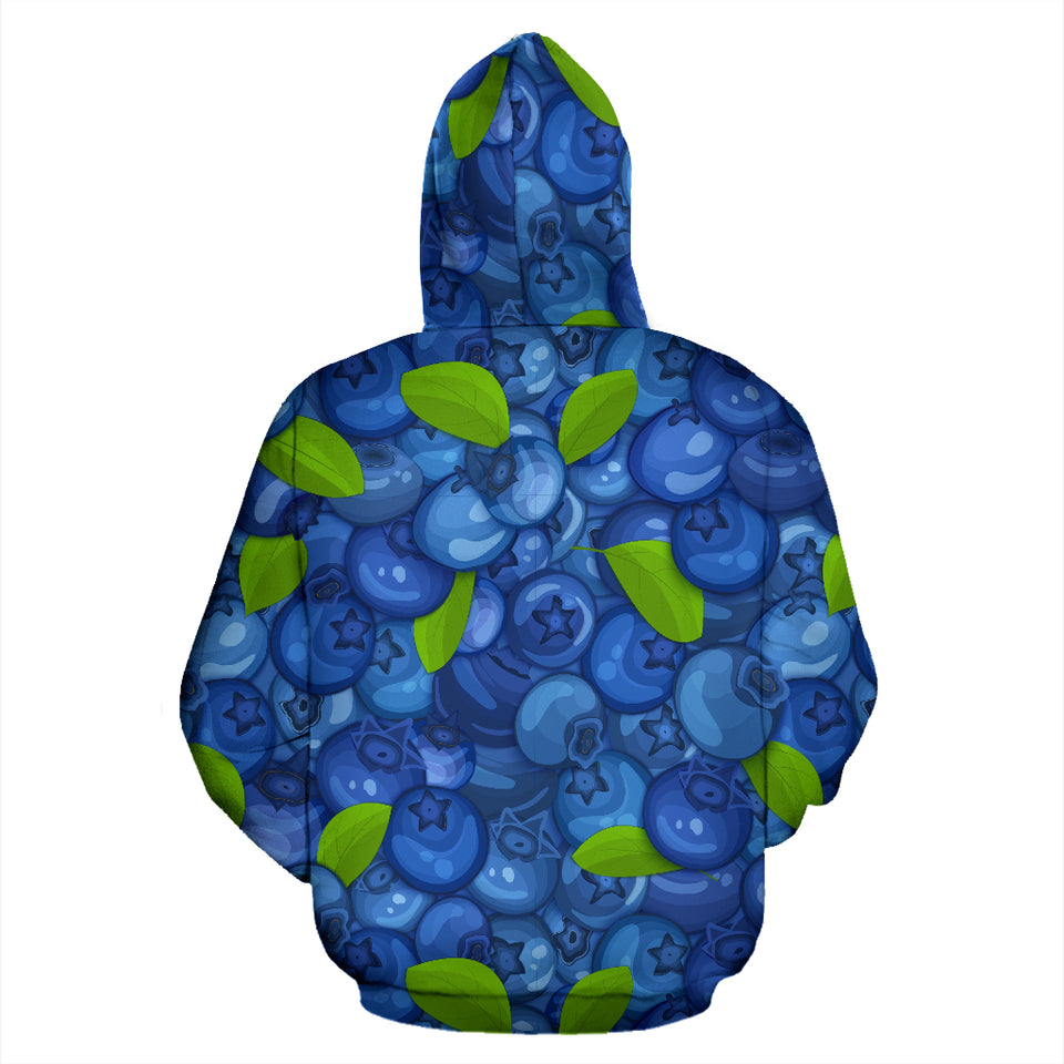 Blueberry Pattern Background Pullover Hoodie
