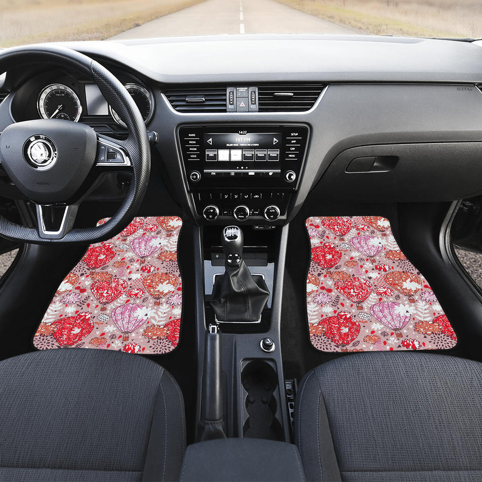 Red Pink Hot Air Balloon Pattern Front Car Mats