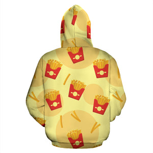 French Fries Pattern Background Pullover Hoodie