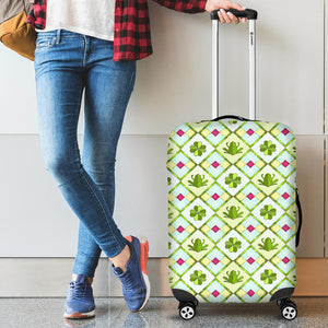 Frog Clover leaves Pattern Luggage Covers
