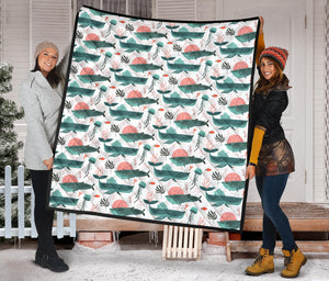 Whale Jelly Fish Pattern  Premium Quilt