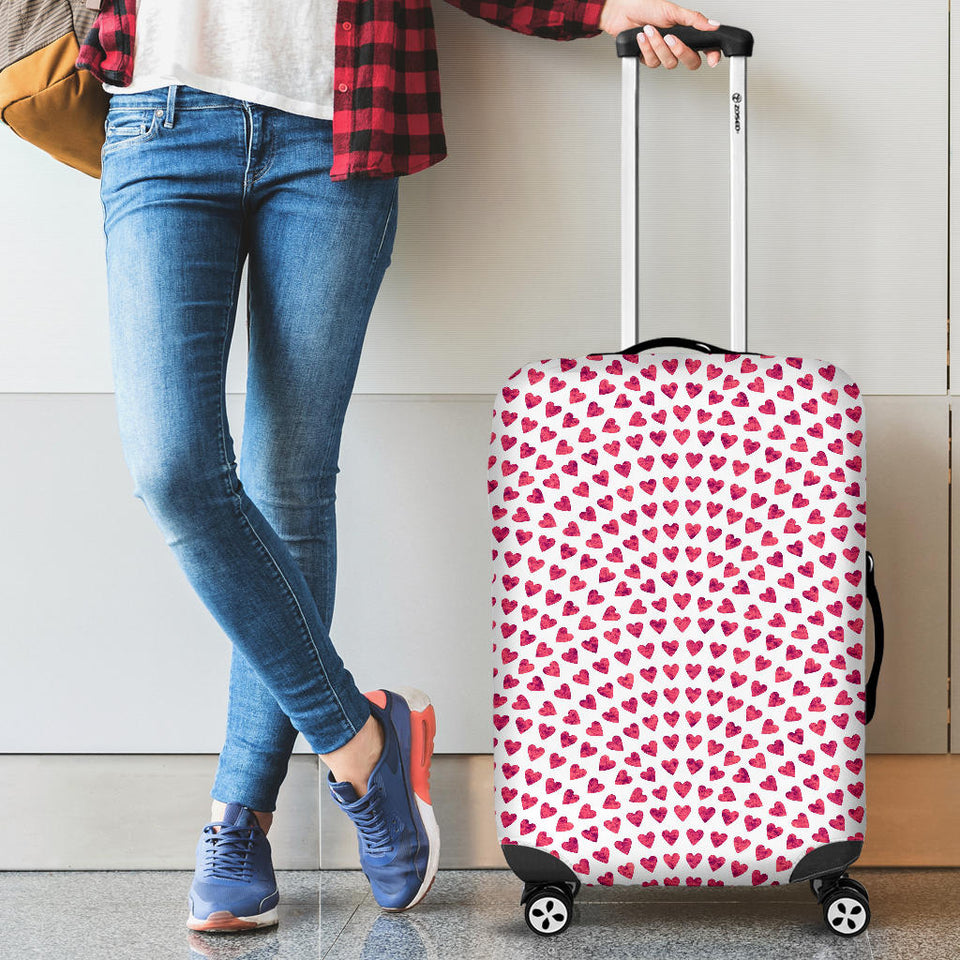 Heart Wave Pattern Luggage Covers