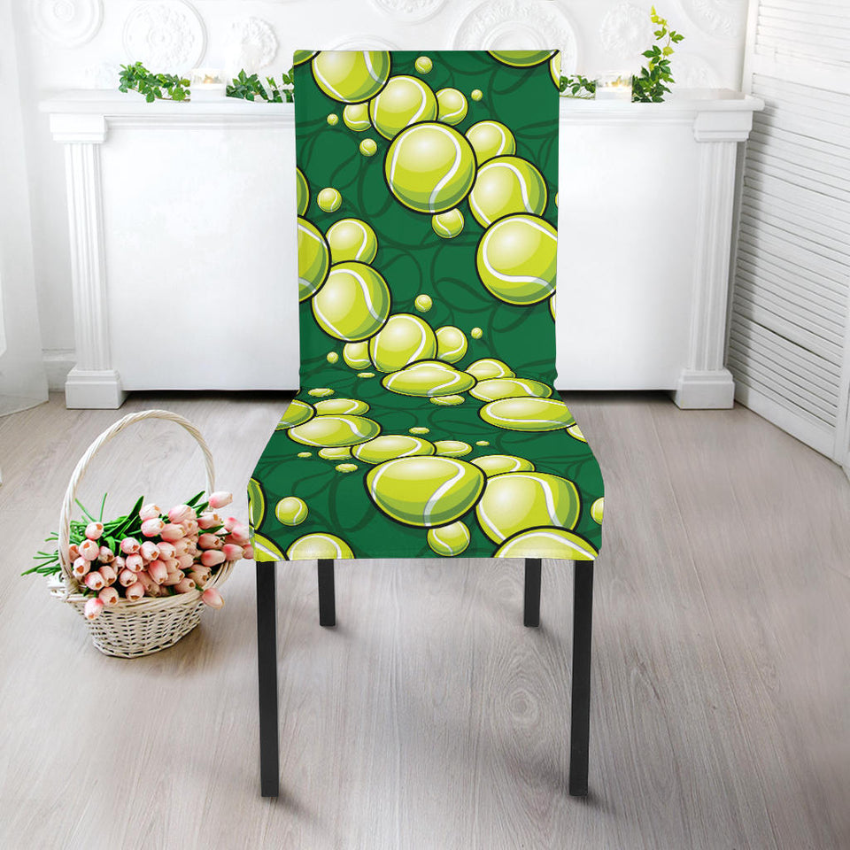 Tennis Pattern Print Design 04 Dining Chair Slipcover