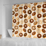 Chocolate Donut Pattern Shower Curtain Fulfilled In US