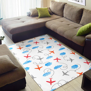 Airplane Cloud Pattern Area Rug