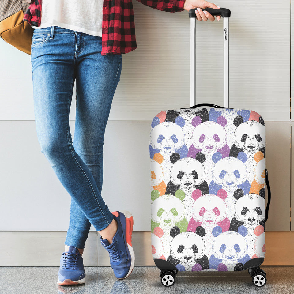 Colorful Panda Pattern Luggage Covers