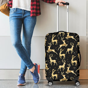 Gold Deer Pattern Luggage Covers
