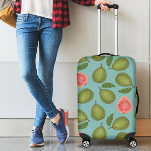 Guava Pattern Green Background Luggage Covers