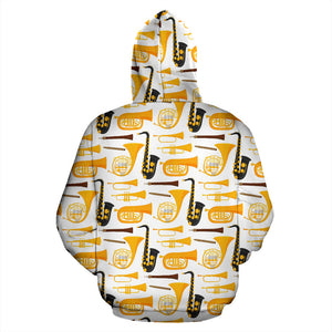 Saxophone Theme Pattern Men Women Pullover Hoodie