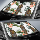 Bengal Tiger Hibicus Pattern Car Sun Shade