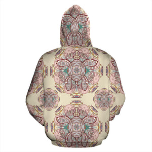Sea Turtle Tribal Pattern Pullover Hoodie