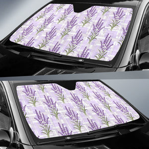 Lavender Pattern Theme Car Sun Shade