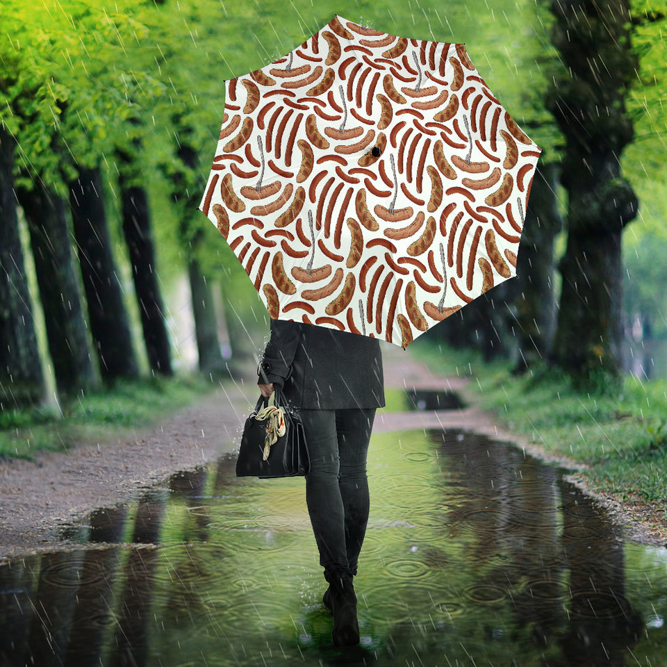 Sausage Pattern Print Design 05 Umbrella